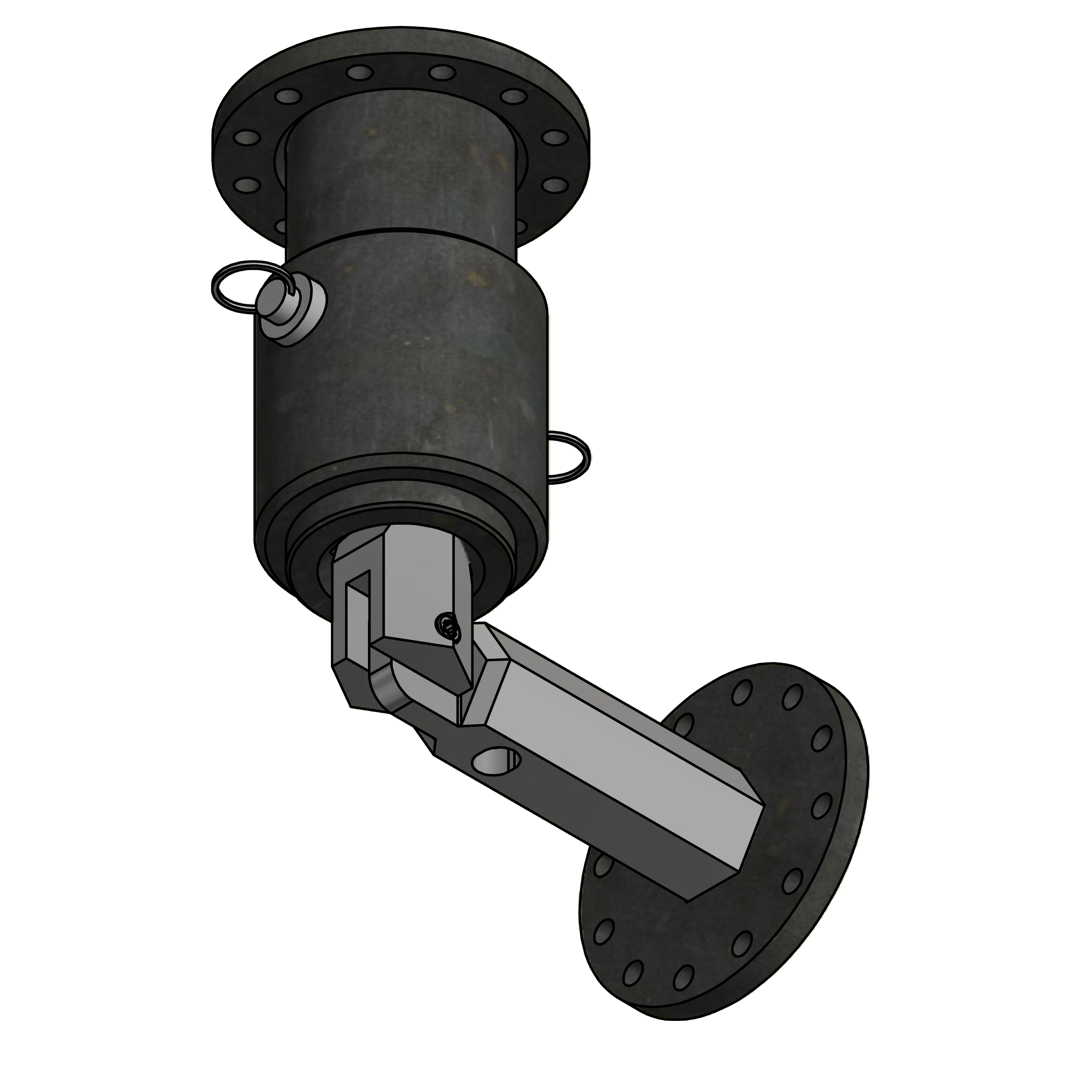 EZI Pile | Skid Steer Universal Pivoting Adapter for Helical